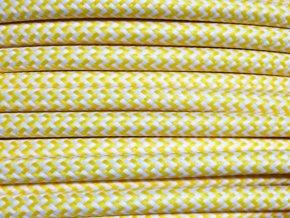 kabel 3 x 0,75mm žluto bílý CIKCAK