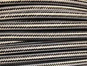 kabel 3 x 0,75mm podélný černo bílý
