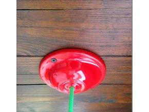 Keramický baldachýn červený