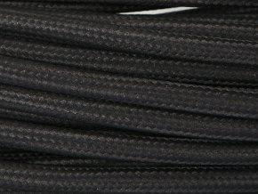 textilní kabel 3 x 1,5mm černý