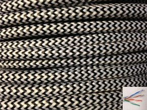 UTP internetový kabel CIKCAK - černo bílý