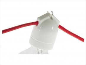 Keramická objímka na 2 kabely bílá E27
