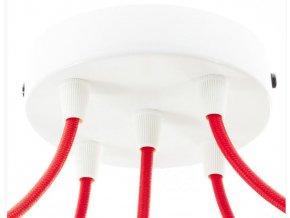 Baldachýn kulatý bílý na 5 kabelů