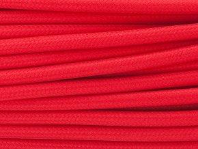 TEXTILNÍ KABEL 3 X 1,5MM červený