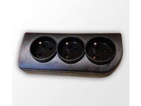 3 zásuvka - černá