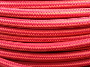 kabel červeno - červený PODÉLNÝ VZOR 3 X 0,75MM