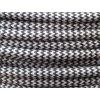 Textilní kabel CIKCAK černá + šedá 2 x 0,75mm