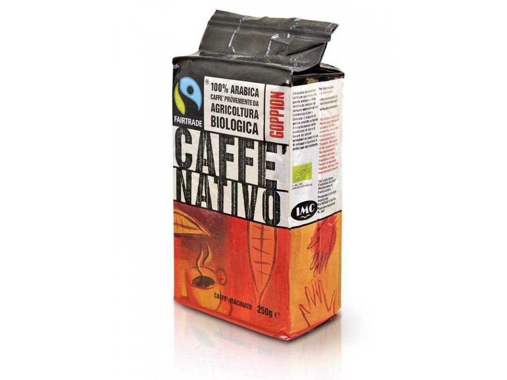 káva nativo bio mletá 250g goppion