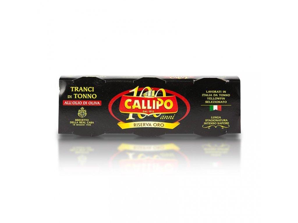 tuňák yellowfinn v oliv.oleji riserva oro 3x80g Callipo