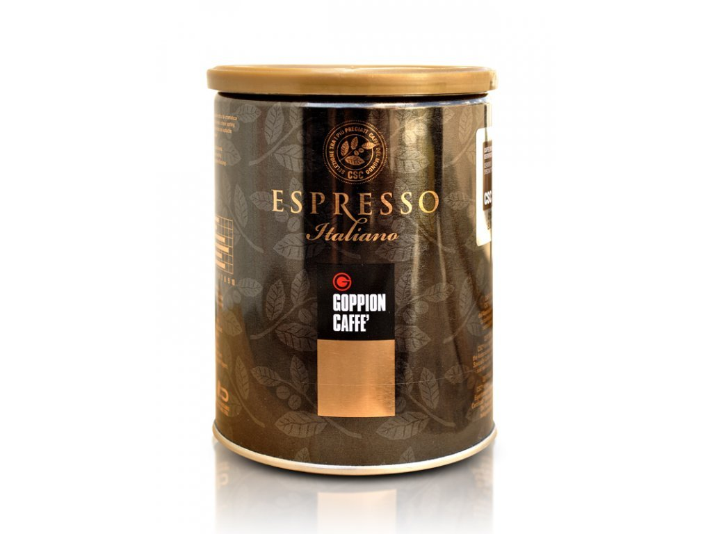 Káva mletá CSC v plechovce 250g Goppion