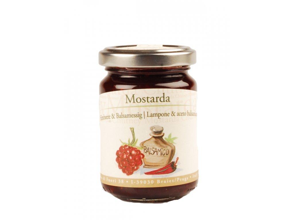 Mostarda z malin a balsamikového octu 160g Alpe Pragas