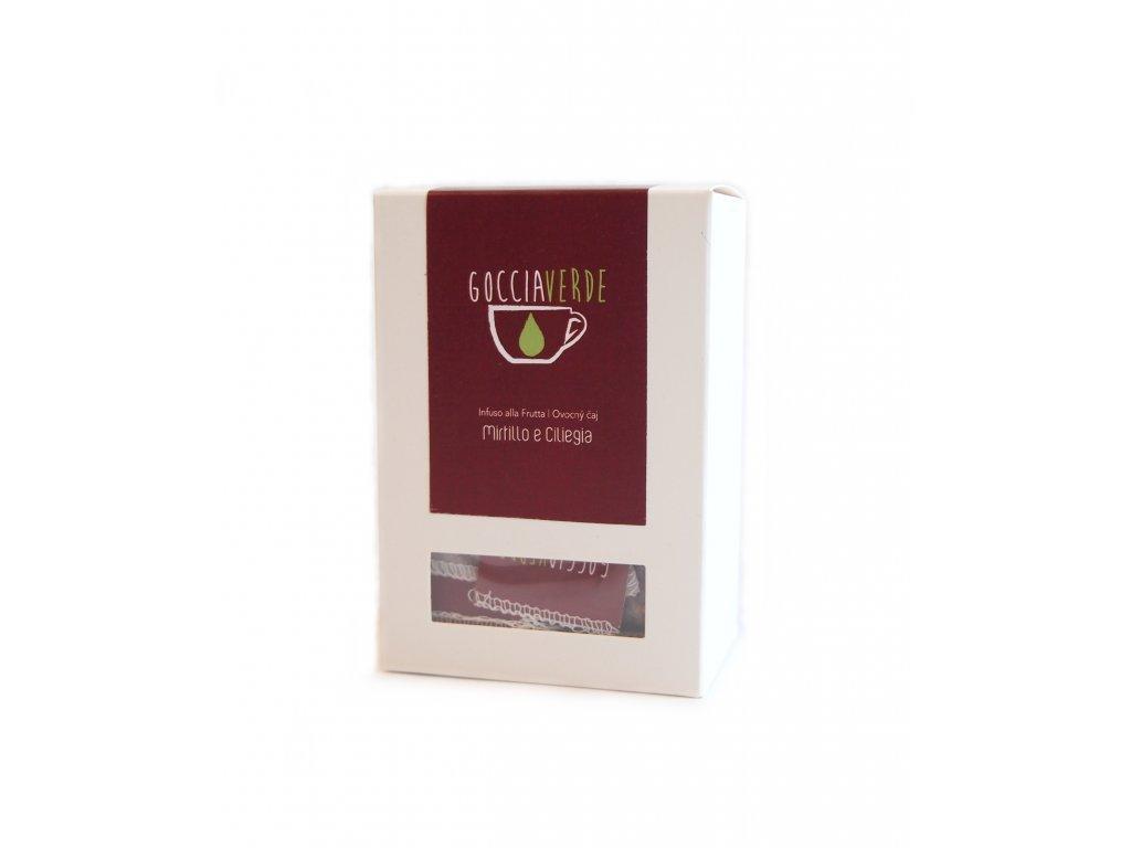 Ovocný čaj Mirtillo e Ciliegia - Borůvka a třešeň 15 sáčků Ferri