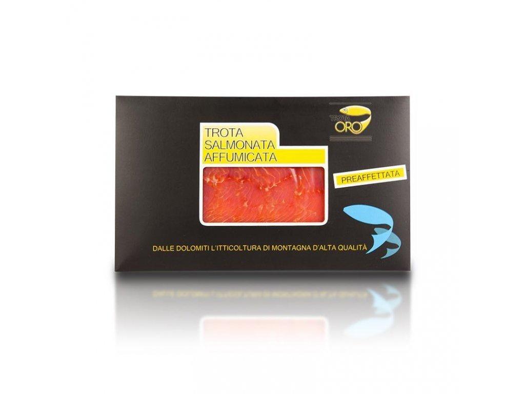 filety z uzeného pstruha lososovitého 100g Trota Oro
