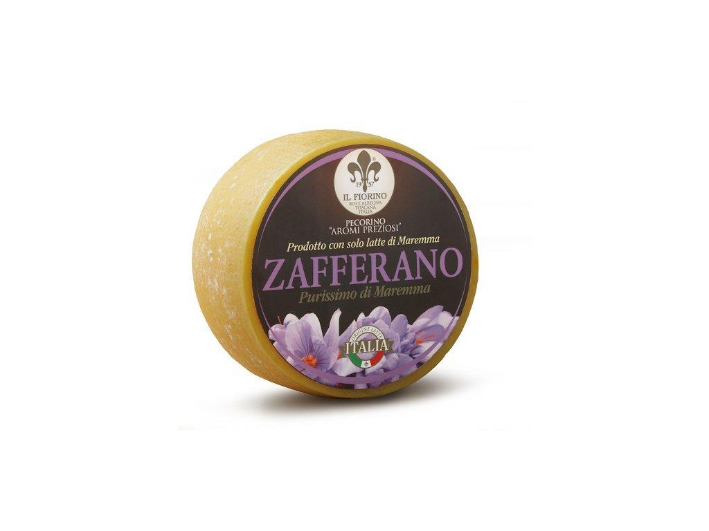 sýr ovčí Pecorino se šafránem středně vyzrálý IL Fiorino 220g