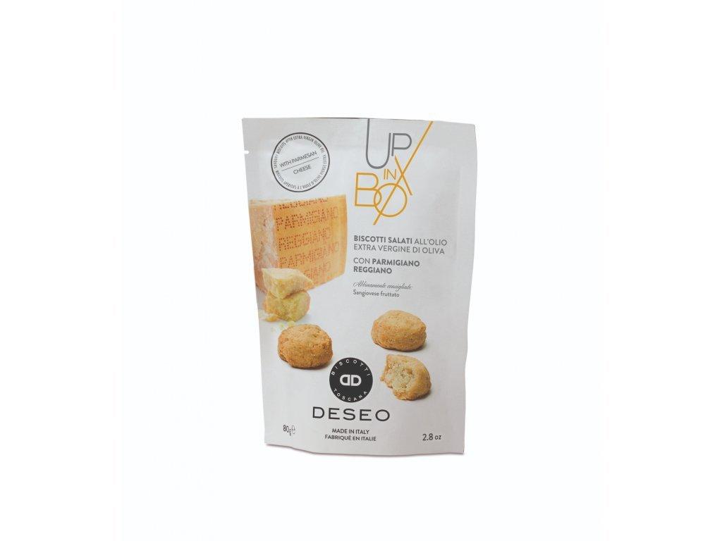 Sušenky slané s parmazánem v oliv. oleji 80 g  Mattei