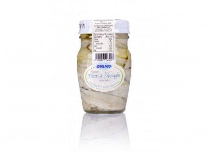 Ančovičky filety marinované v olivovém oleji 80g Carlino