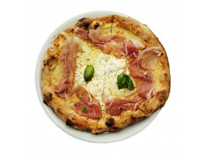 Pizza bianca con prosciutto di San Daniele světlejší
