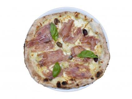 Pizza capricciosa cruda e