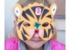 Maska SAFARI zvířátko (6 ks) | Pěnovka Moosgummi
