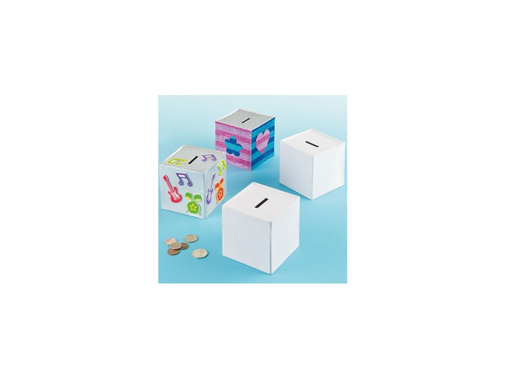 Design Your Own Cube Money Boxes N059