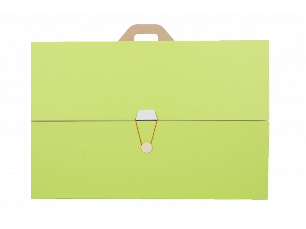 Projektová tabule 120 x 90 cm, zeleno-bílá, s uzavíráním a uchem