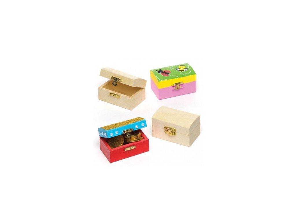 Truhlička mini dřevěná