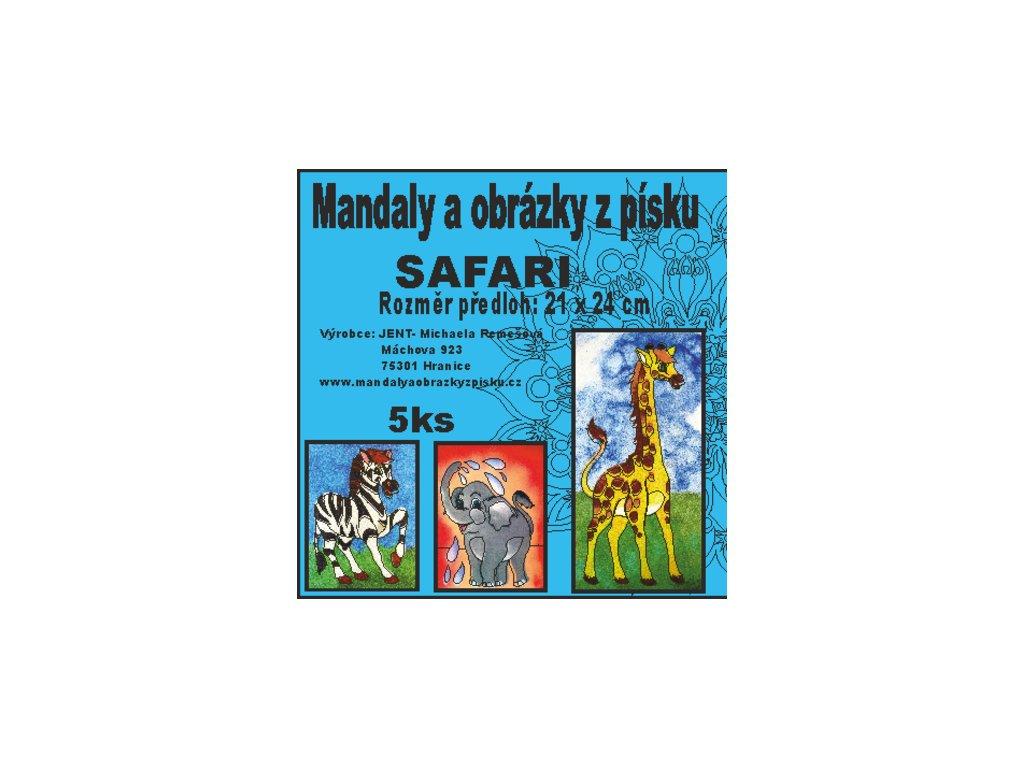 Mandaly a obrázky z písku - sada Safari