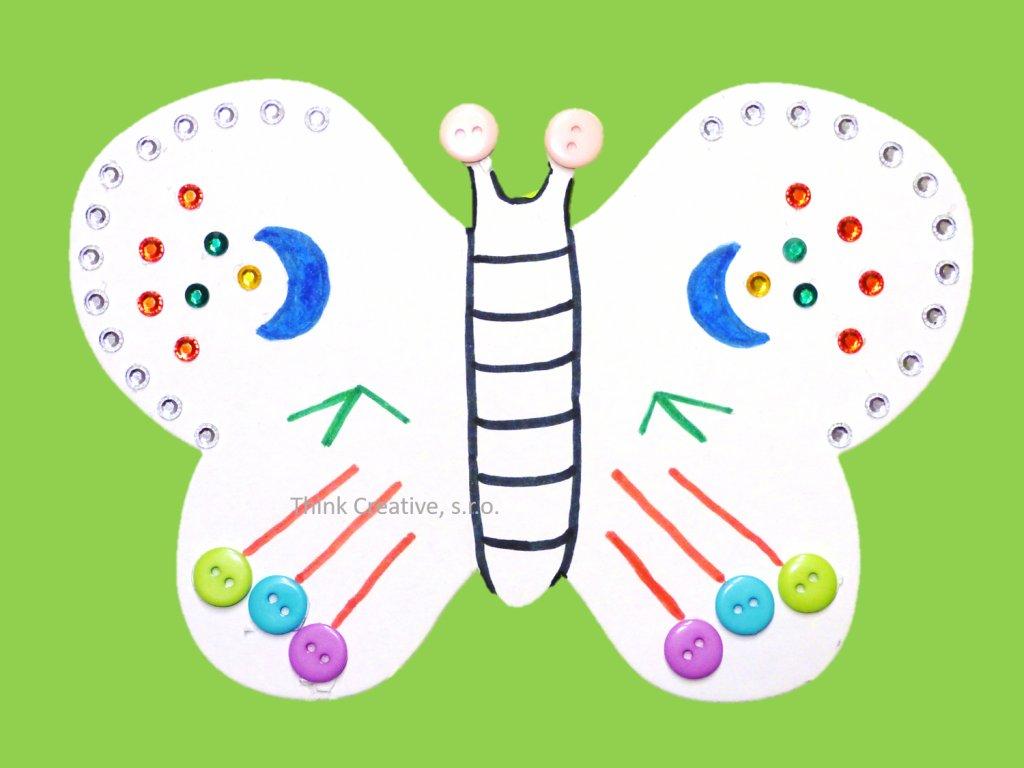 Motýl Think Creative kartonový výřez
