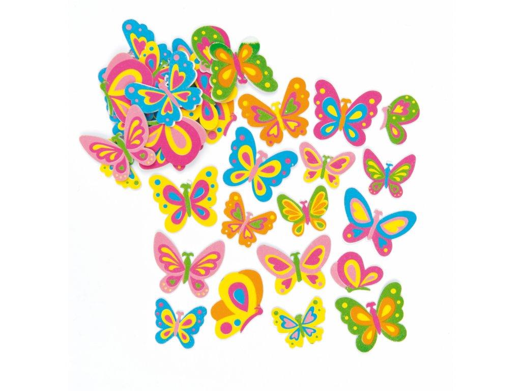Motylci samolepky