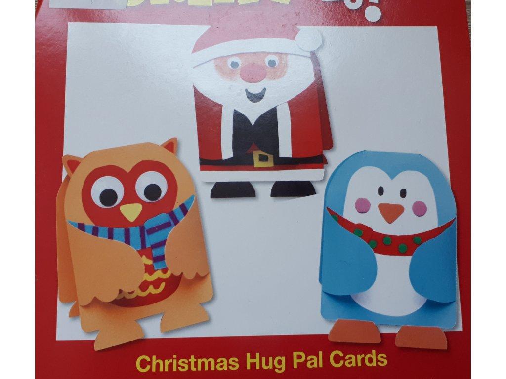 Vánoční přání k dotvoření kartonové (8ks)