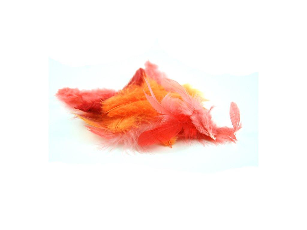 Peří barevné 10 g oranžové