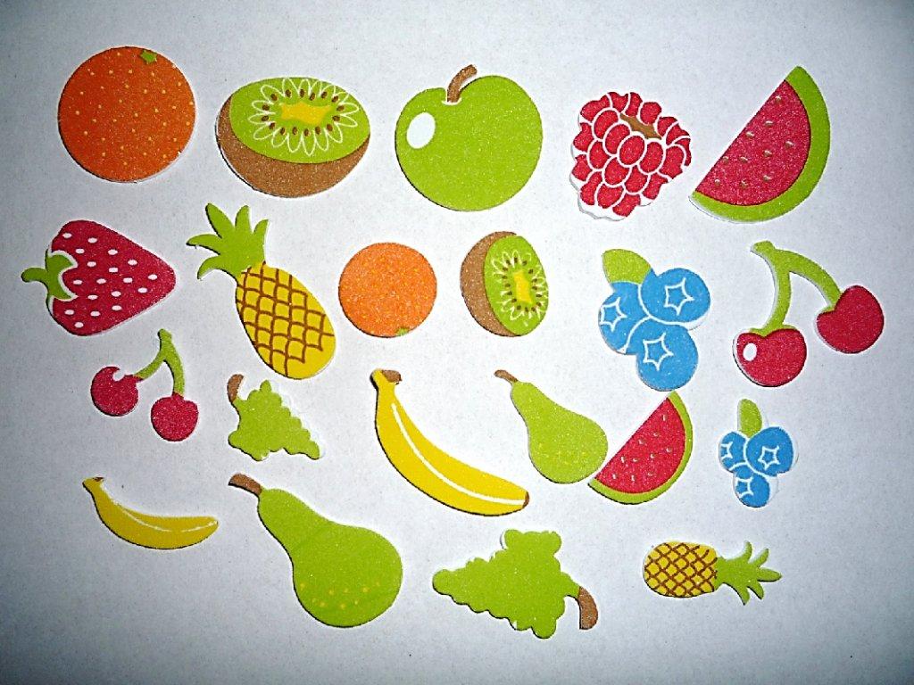 Pěnové samolepky Ovoce (48ks)