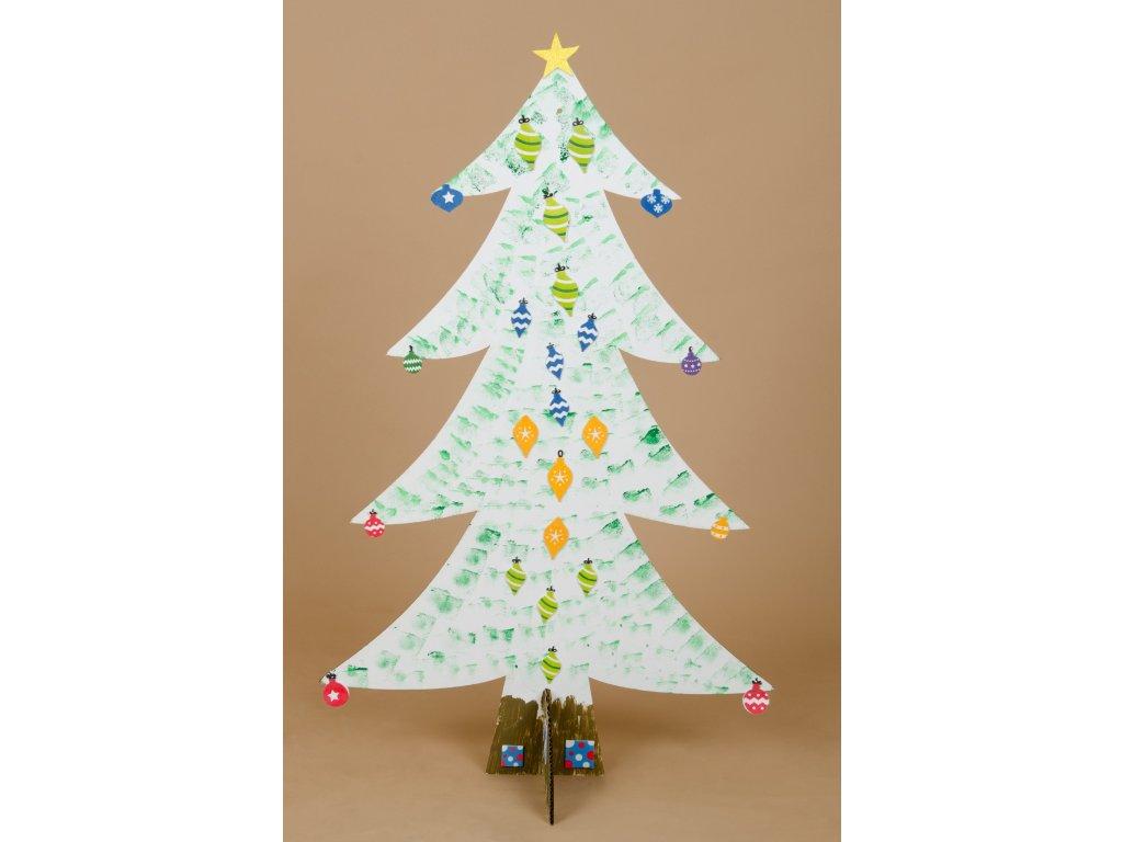 Strom vánoční se stojánkem (1ks) - 80 cm - smrk