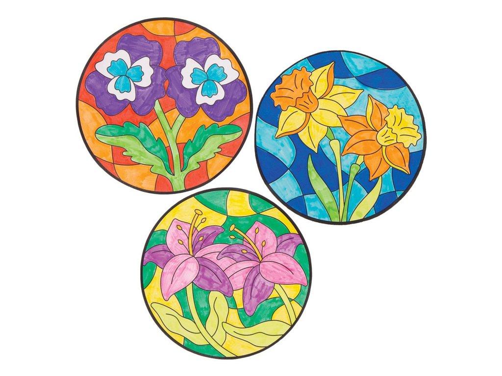 Kvetiny vitraz 2