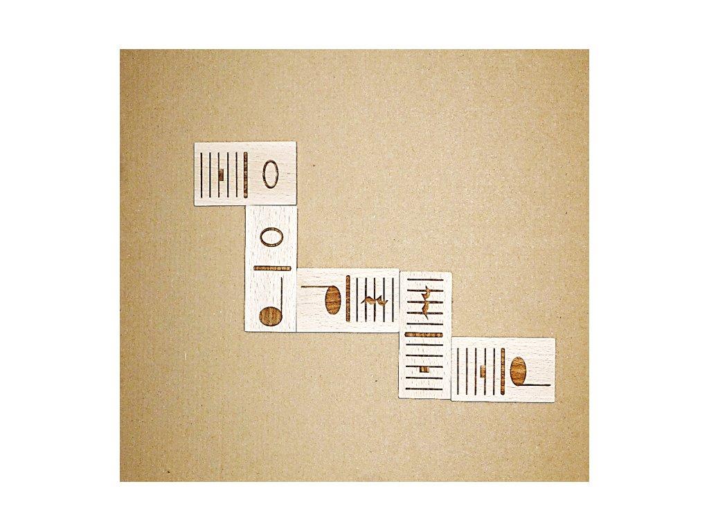 Domino – NOTY (28 herních kamenů)