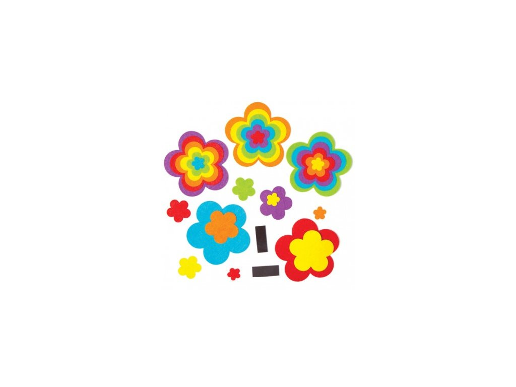 rainbow flower magnet kits AC757D