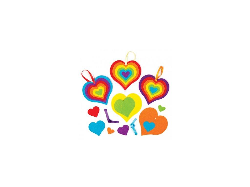 rainbow mix n match heart decs AC575D