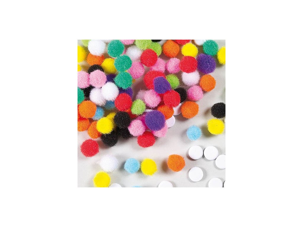 self adhesive pom poms AF125W