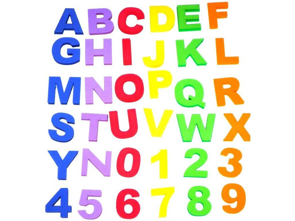 Písmenka a čísla (36 ks) - pěnovka moosgummi