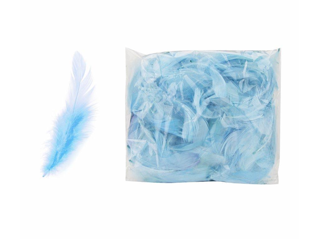 peří modré