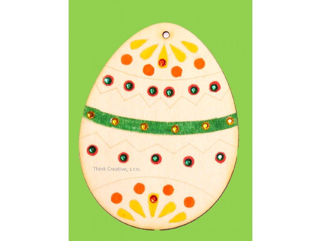Velikonoční vajíčko předkreslené dřevěné Think Creative