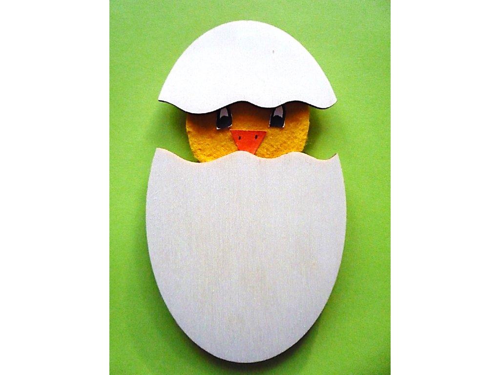 Vajíčko - 2 díly - (15 x 10 cm) - dřevěný výřez