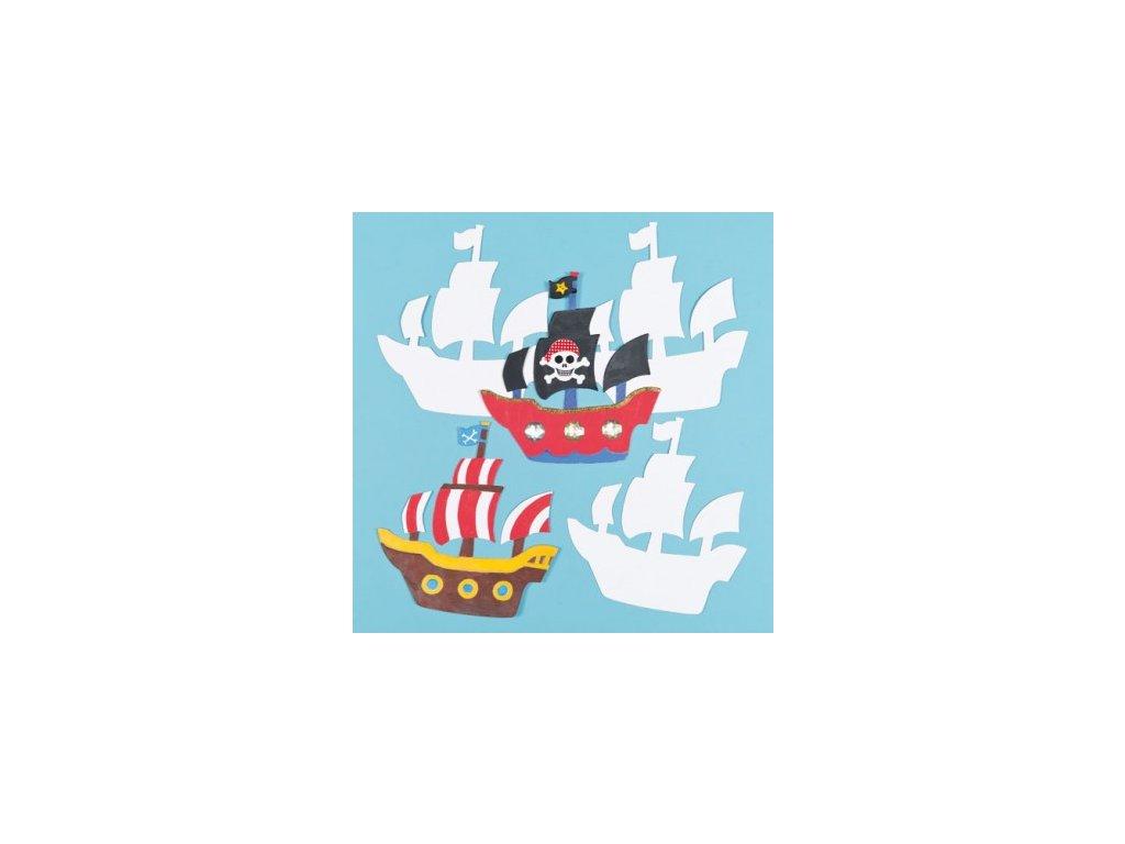 pirate ship card shapes EF673V