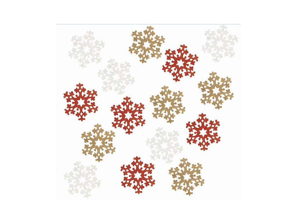 vločky 4 cm červené
