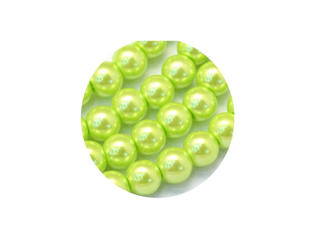 perličky světle zelené