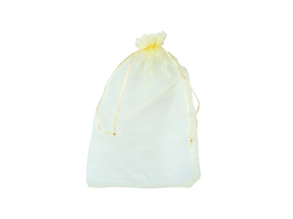 sacek textilni kremovy