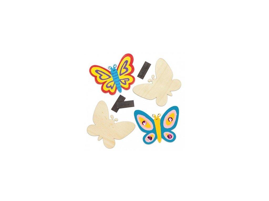 Motýlci dřevěný výřez