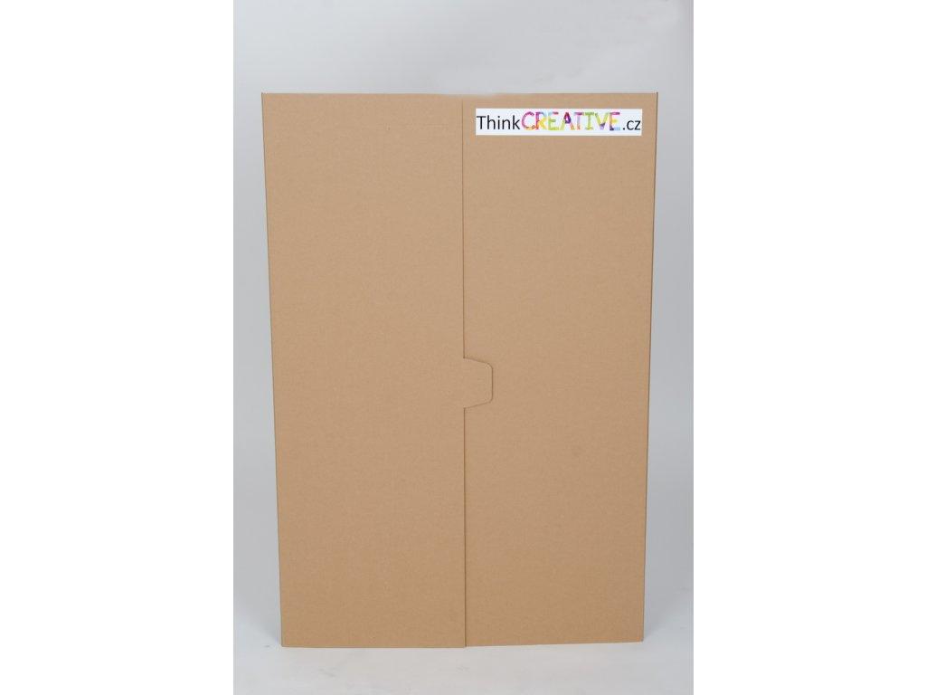 Projektová tabule 120 x 90 cm, hnědo-bílá (10 kusů) - II. jakost