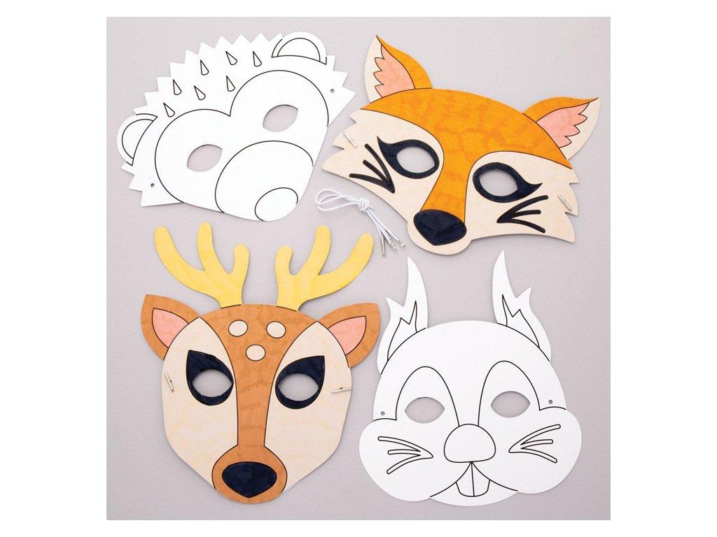 Lesni zviřátka maska