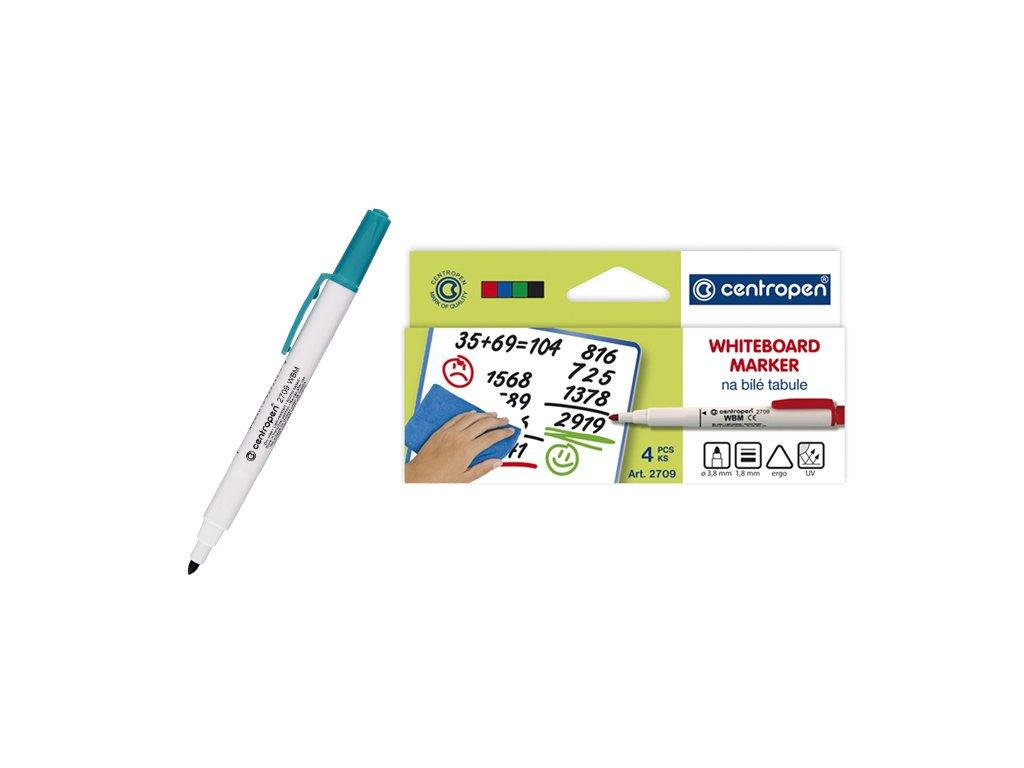 Popisovač CENTROPEN - stíratelný Whiteboard marker 2709 set (4 ks)